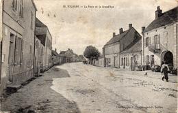 - ROUVRAY -1919- La Poste Et La Grand'Rue - - Otros Municipios