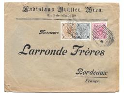 LETTRE ..AVEC REPIQUAGE .. D'AUTRICHE... POUR BORDEAUX.... 1899...N°47-48-49.. BE  SCAN - 1850-1918 Empire