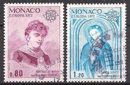 Monaco  (1975)  Mi.Nr.  1167 + 1168  Gest. / Used  (8ff20)  EUROPA - Gebraucht