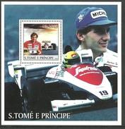 ST THOMAS AND PRINCE 2003 GRAND PRIX SPORT AYRTON SENNA M/SHEET MNH - Sao Tome And Principe