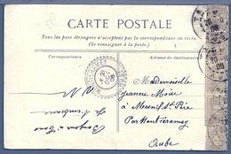 FRANCE - CACHET A DATE : MONTIERAMEY (AUBE) Sur Carte Postale Enfants Pour Mesnil St Père - 1877-1920: Période Semi Moderne