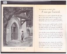 FORMAT 10x15cm - DISTRICT D'AIGLE - CARTE DOUBLE - LE TEMPLE D'OLLON - TB - VD Waadt