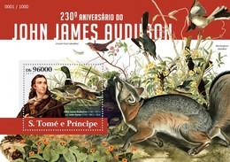 SAO TOME E PRINCIPE 2015 SHEET JAMES AUDUBON ART ARTE St15311b - Sao Tome En Principe