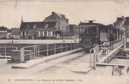 COURSEULLES SUR MER  LE TRAMWAY SUR LE PONT TOURNANT BEAU PLAN - Courseulles-sur-Mer