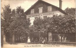 MORSANG SUR ORGE .... PARC DE BEAUSEJOUR ... CAFE RESTAURANT DES TILLEULS - Morsang Sur Orge