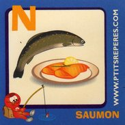Magnets Magnet Alphabet N Saumon - Letters & Digits