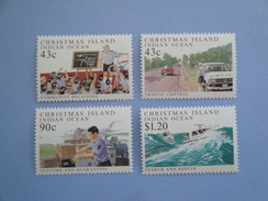 1991  Christmas Island Yvert  337/40 ** Police Bateaux  Ships Scott 303/6  Michel  329/32 SG 321/4 - Christmas Island