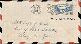 1940 CANAL ZONE SINGLE AIR MAIL  ISSUE TO U.S. - Francobolli