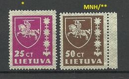 LITHUANIA Litauen 1937 Michel 414 & 416 MNH/MH - Lithuania