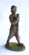 FIGURINE QUIRALU Soldat Porte Drapeau CASQUE ADRIAN KAKI - ALUMINIUM Incomplet - Quiralu