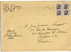 LBEL2- ENVELOPPE ECRITE PAR ANAÏS NIN A J.J.SERGENT - Autographes