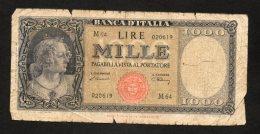 Banconota Italia 1000 Lire Medusa 20/3/1947 MB - [ 2] 1946-… : Repubblica