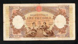 Banconota Italia 10.000 Lire Regine Del Mare 27/10/1958 Circolata - [ 1] …-1946 : Kingdom