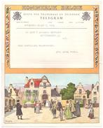 Télégrame Telegram - Antwerpen - Janssens-Devolder - Gelukwensen Drie Jonge Paren - 1959 - Stamped Stationery