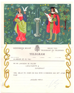 Télégrame Telegram - Wijnegem - Janssens-De Bolder - Borgerhout - Jacques Maria - Geluk En Zegen ... - 1959 - Stamped Stationery