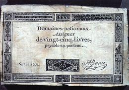 Cpsm Reproduction D'un Assignat De 25 Livres Payables Au Porteur, (20.76) - France
