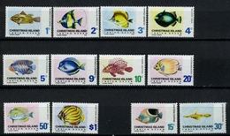 1968/70 - CHRISTMAS ISLAND - Mi. Nr. 22/31 + 35/36 - LH - (CW2427.48) - Christmas Island
