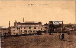 CPA Creil-Le Pont Et La Piscine (423971) - France