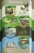 SAO TOME E PRINCIPE 2015 SHEET BIRDS OISEAUX PASSAROS UCCELLI TARAMBOLAS PLOVERS St15520a - Sao Tome And Principe