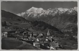 Visperterminen (1340 M) Weisshorn (4506 M) - Photo: E. Gyger No. 9508 - VS Valais