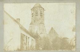 Knocke Knokke Kerk Zeer Oude Originele Foto Op Hard Karton Photo (6 X 10,5cm) - Knokke