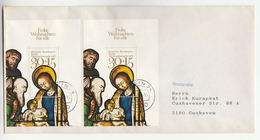WEST BERLIN COVER Franked 2x MINIATURE SHEET  CHRISTMAS 1978  , Religion Stamps Germany - Christmas