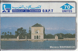 MOROCCO(L&G) - Menara Marrakech, O.N.P.T. Telecard 70 Units, CN : 204F, Tirage 60000, Mint