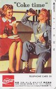 Télécarte Japon / 290-14061 - COCA COLA & Femme - POSTER Girl Woman - COKE TIME - Japan Phonecard - 4014 - Japan