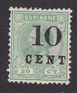Surinam, Scott #33, Mint Hinged, King William III Surcharged, Issued 1898 - Surinam