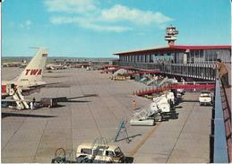 Aeroporto Intercontinentale Di Roma Fiumicino Veduta Animata Interno Pista Anni 70 - Aerodromi