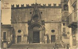Abruzzo-teramo Veduta Porta Della Cattedrale Persone Sulle Scale Anni 20/30 - Teramo