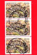 UGANDA - Usato - 1995 - Rettili - Serpenti - Vipera - Rhinoceros Viper - 900 - Uganda (1962-...)