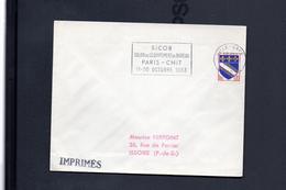 Flamme 59 Lille Gare SICOB Salon De L´équipement Du Bureau Paris - CNIT 11 - 20 Octobre 1963 - Storia Postale