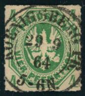 1864, 4 Pfg. Wappen Luxus Mit Absolut Zentrischem, Glasklarem Stempel KOENIGSBERG PR. - Prusse