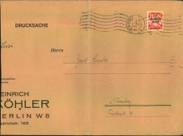 1939, Großformatige Drucksache (100-250 G), Links Leicht Verkürzt Mit Seltener EF 15 Pfg. Danzig-Abschied Ab BERLIN NW 7 - Deutschland
