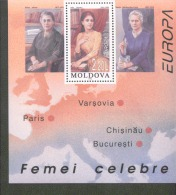 CEPT Berühmte Frauen / Famous Women Moldawien Block 9 ** Postfrisch, MNH, Neuf - Europa-CEPT