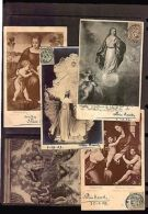 MADONNA VIRGIN & CHILD ART MAXI CARDS ANGEL CHERUBS 5 ORIGINAL POSTCARDS CA1900 - Religions & Beliefs