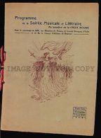 1915 WWI CONCERT RED CROSS ORIGINAL PERIOD URUGUAY PROGRAMM - SWITZERLAND ARTIST - Army & War