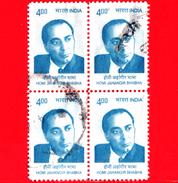 INDIA - Usato - 2009 - Dr Homi J. Bhaba  - 4.00 - Quartina