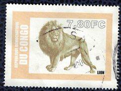République Démocratique Du Congo Oblitéré Used Animaux Sauvages Lion SU - Felini