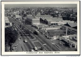 Ghana, ACCRA, Commercial Area Adabraka, Gas Station (1950s) RPPC - Ghana - Gold Coast