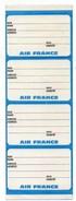4 ETIQUETTES à BAGAGES Autocollantes  AIR FRANCE - Étiquettes à Bagages