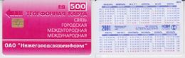 Phonecard   Russia. Nizni - Novgorod  2001 R