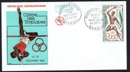 1962  Coupe Des Tropiques - Bangui- Porteur De La Torche  FDC - Central African Republic