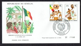 1974  Semine Nationale De La Jeunesse Sports, Théâtre  FDC - Senegal (1960-...)