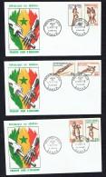 1963  Jeux De L'amitié Dakar - Course, Boxe, Plongeon, Saut, Basketball, Football  FDC - Senegal (1960-...)