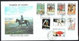 1992  Jeux Olympiques Barcelone Et Albertville   FDC - Lesotho (1966-...)