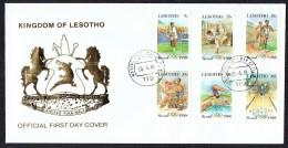 1987  Jeux Olympiques Séoul - FDC - Lesotho (1966-...)