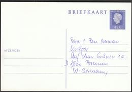 Netherlands / Postal Stationery Ganzsache Entier Briefkaart 45 C / Königin Queen Juliana - Postal Stationery