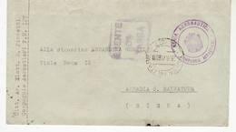 8212 01 FRANCHIGIA POSTA MILITARE 127 REGIA AERONAUTICA COMPAGNIA AEROSTIERI X ABBADIA SAN SALVATORE SIENA - 1900-44 Victor Emmanuel III